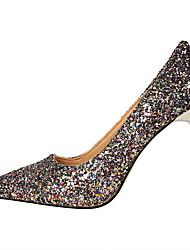 Damen-High Heels-Kleid-Glanz-Stöckelabsatz-Komfort-Schwarz / Blau / Lila / Rot / Weiß / Silber / Gold / Champagner