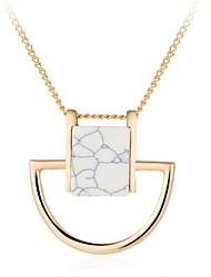 Women's Fashion Luxury European Gem Stone Pendant Necklace for Women