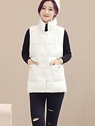 Sign diamond front side pockets high collar single-breasted conventional models big yards thick cotton vest