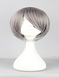 estilo especial júnior liga azuma Kouichi clássica cinzenta 30 centímetros curto peruca cosplay reta