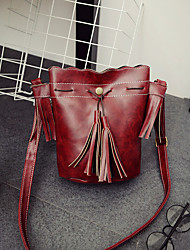 Women Shoulder Bag PU Casual Purple Fuchsia Brown Green Wine