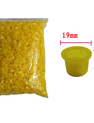 Solong Tattoo 1000 pcs Tattoo Ink Cups Plastic Caps Large Size Yellow Color TC101-3
