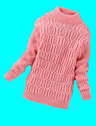 Girl's Casual/Daily Solid Sweater & CardiganWool Winter Black / Pink / Red / Gray