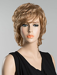 Oblique Bangs Natural Fashion Human Hairr Wigs