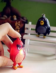 dessin animé oiseau en colère voix boucle conduit émettant de la lumière porte-clés