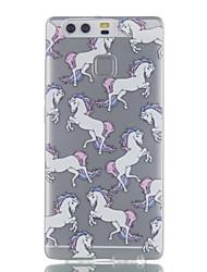 Pour huawei p9 p9 lite modèle de cheval haute perméabilité tpu matériel téléphone cas