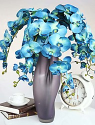 1 Branch 1 Ramo Seda / Toque real Orquideas Flor de Mesa Flores artificiais Total Length:38""