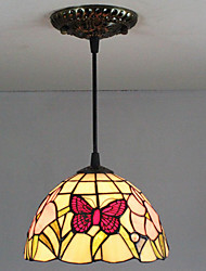 25W Pendant Light ,  Tiffany / Retro Painting Feature for Mini Style Glass Bedroom / Entry