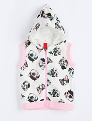 Girl's Casual/Daily Print VestCotton Fall Pink