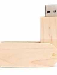 neutro Produto Rotating Wood 16GB USB 2.0 Rotativo