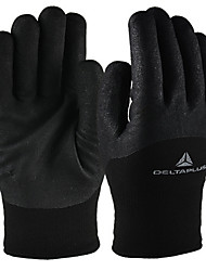 Terry Cashmere Wool Lining Wear Gloves  Color Black Size 9