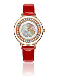Women's Wrist watch Quartz Water Resistant/Water Proof Leather Band Sparkle White Brand