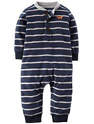 малыш Блуза-На каждый день,Полоски,Хлопок,Осень-Синий / Оранжевый