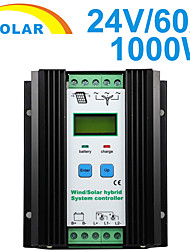 1000W DC 24V Wind Solar Hybrid Charge Controller 50A With LCD PWM Control YS2460