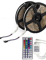 10M 5050 RGB LED tira de luz flexible de luz LED cuerda luces no impermeable DC 12V 600LEDs con 44Key IR Remote Controller Kit
