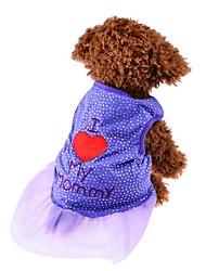 Chien Robe Vêtements pour Chien Soirée Anniversaire Décontracté / Quotidien Mariage Mode Princesse Violet Rose