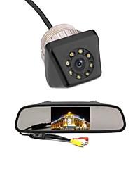Coche de 4.3 TFT LCD kit de cámara de visión trasera de respaldo del revés del coche