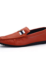 Men's Loafers & Slip-Ons Spring / Fall Comfort PU Casual Flat Heel Slip-on Black / Brown / White Sneaker