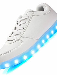 Unisex Sneakers Men Women LED Shoes Comfort Leather Outdoor / Athletic / Casual Casual Shoes LED Lights USB Charging Shoe Fashio Black / White Walking