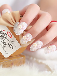 невеста кусок поддельных ногтей маникюр готовый французский маникюр патч Beijiao пункта
