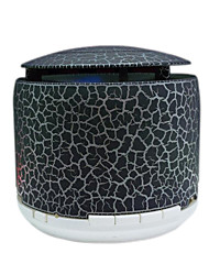 RICHSO Cracked Shells Bluetooth Speakers & LED Light with Stereo FM AUX Built in Mic / USB / TF