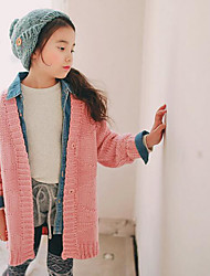 Girl's Casual/Daily Solid Sweater & CardiganAcrylic Winter / Fall Pink