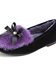 Women's Loafers & Slip-Ons Spring / Fall / Winter Others Leatherette Dress Flat Heel Bowknot / Slip-on Purple Others