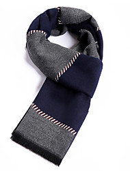 Men's Wool Blend Scarf Work / Casual / Calassic Scarf with Gray Color