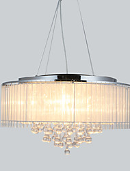 40 Pendant Light ,  Modern/Contemporary Drum Chrome Feature for Crystal Metal Living Room Bedroom Dining Room
