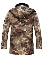 Wandern Softshell Jacken Unisex Wasserdicht / warm halten / Windundurchlässig / tragbar Winter Terylen Braun / ArmeegrünM / L / XL / XXL