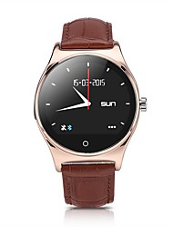 LXW-282 MTK2501 Bluetooth 4.0 IP67 Genuine Leather Band Dialer SMS Pedometer Remote Camera Find Phone Anti Lost Music Compass