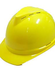 capacete respirável luxo abs (amarelo)