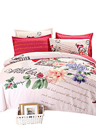 Plant Cashmere Thicker Momao Four - Piece Fashion Winter Warmth Suite   Bedding Set