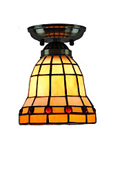 14cm Retro Tiffany Ceiling Lamp Glass Shade Flush Mount Living Room Bedroom Dining Room Kids Room light Fixture
