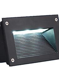 3w rectangulaire étanche à l'eau en plein air intégré lampe enterrée (3W blanc chaud)