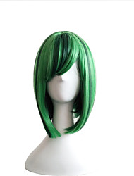 The New 2016 Color BOBO Head Green Highlights Cosplay Anime Wigs