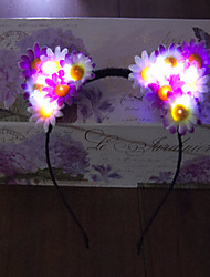 Light Up Led Cat Ear Emitting Headband Led Light Garland Halloween Christmas Holiday Items Daisy Headband Gift Idea