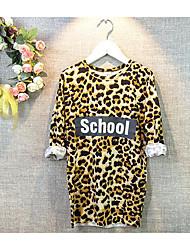 Mädchen T-Shirt-Lässig/Alltäglich Leopard Modal Frühling / Herbst Gelb