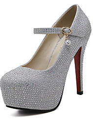 Women's Shoes Sparkling Glitter High Heels with Round Toe Platform Stiletto Heels/Pumps