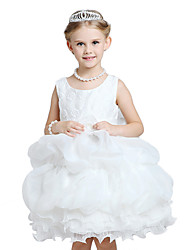 Girl's Formal Solid Dress,Polyester All Seasons Sleeveless