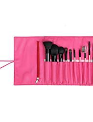 9 Makeup Brushes Set Horse Portable Wood Face NFSS