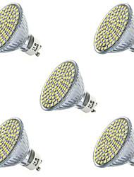 5pcs 3.5w400-450lm 80smd 2835 llevó el proyector gu10 / mr16 fresco / la iluminación llevada blanca caliente (ac220-240v)