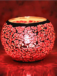Glass Mosaic Candle Sticks Creative Household Furnishing Articles European-style Cafe KTV Bbar