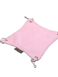 Pink Plush Hammock Hanging Bed House Cage for Rat Hamster Mouse S