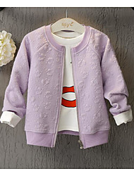 Girl's Casual/Daily Solid Jacket & CoatCotton Spring / Fall Purple