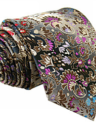 P12    Mens Ties Gray Multicolor Floral New Fashion Wedding Dress For Men