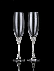 Lead-free Glass Toasting Flutes-2 Piece/Set