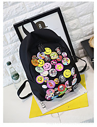 Women Nylon Sports / Casual / Outdoor Backpack Black
