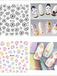 9pcs/lot Nail Flowers Series Watermark Stickers