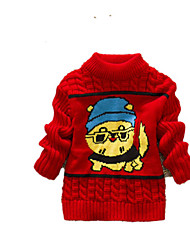 Girl's Casual/Daily Print Sweater & CardiganWool Winter Blue / Purple / Red / Yellow / Gray